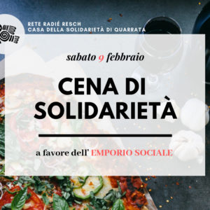 Cena di solidarietà a favore dell'Emporio Sociale