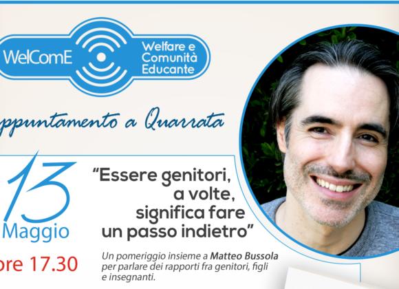 """Incontro di formazione con Matteo Bussola – """"Essere genitori, a volte, significa fare un passo indietro"""""""