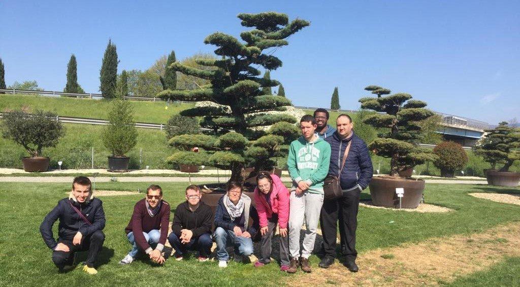 foto di gruppo al Pistoia Nursery Park