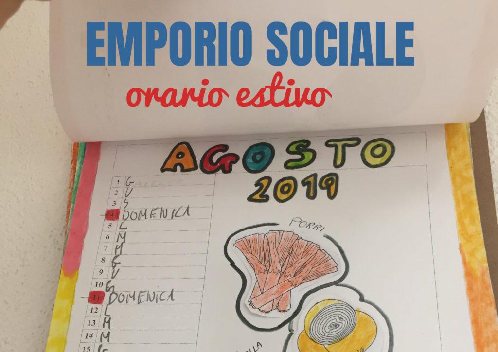 calendario agosto dell'emporio sociale