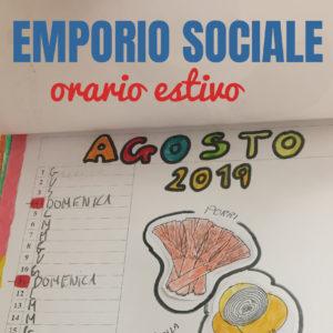 L'Emporio Sociale è aperto anche in estate!