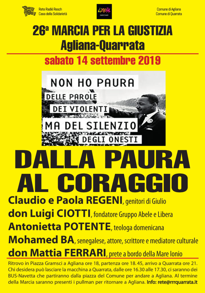 manifesto marcia per la giustizia 2019