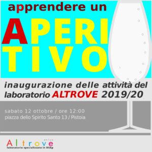 Inaugurazione delle attività del laboratorio Altrove 2019/2020