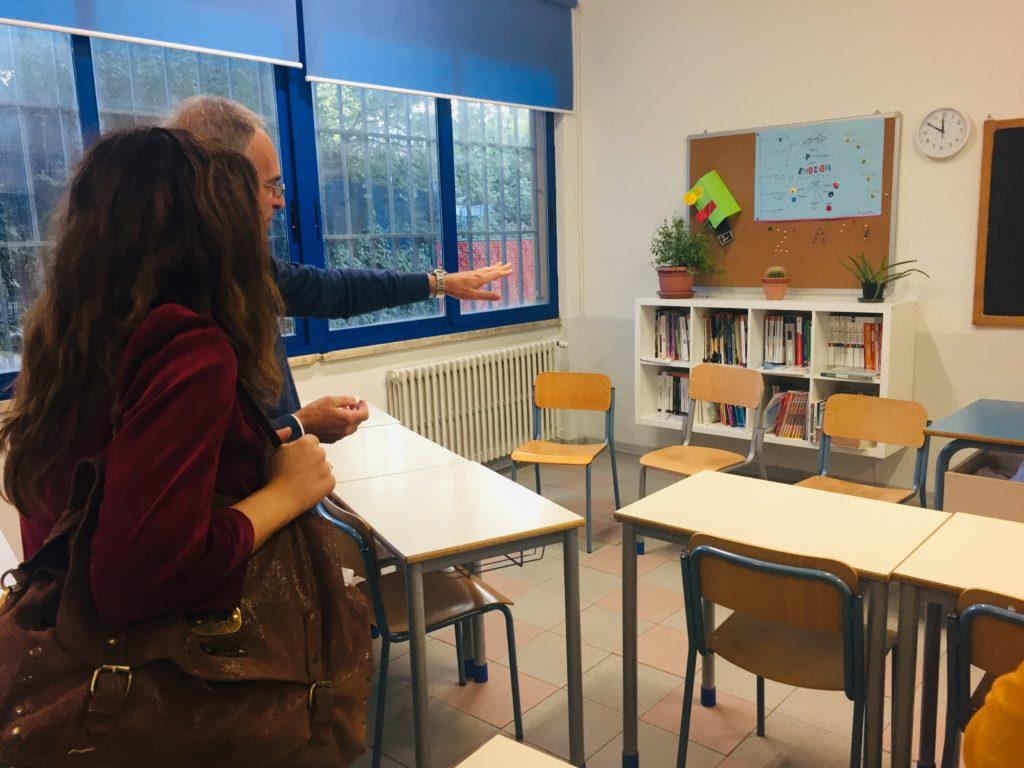 aula accogliente scuola media
