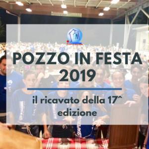 """""""Pozzo in Festa"""" 2019: il ricavato della 17^ edizione"""