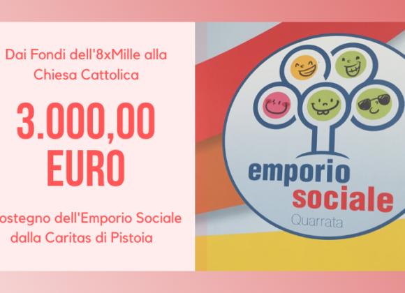 Contributo di 3.000 € per l'Emporio Sociale dalla Diocesi di Pistoia