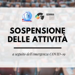 Sospensione delle attività a seguito dell'emergenza COVID-19