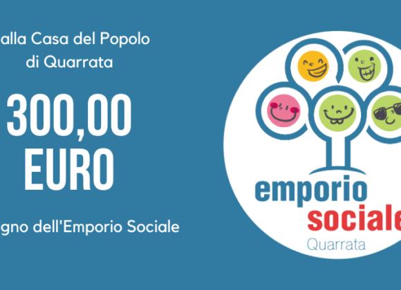 300 euro per l'Emporio Sociale da parte della Casa del Popolo di Quarrata