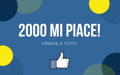 2000 mi piace! Grazie a tutti!