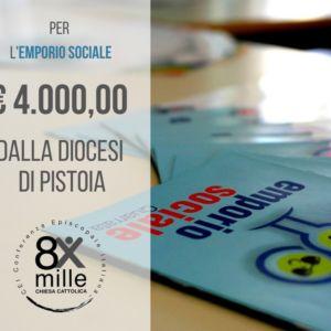 4.000 euro per l'Emporio Sociale dalla Diocesi di Pistoia
