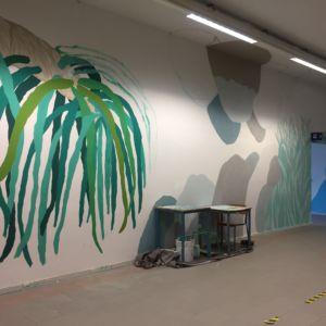 La Selva di Dante – Wall painting a scuola con l'artista Fargo